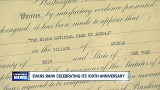 Evans Bank is celebrating its 100th anniversary