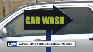 "I-Team: Despite ""non-essential"" order, Royal Car Wash staying open"