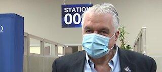 Nevada Gov. Sisolak gets flu shot