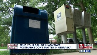 Your mail-in ballot must arrive by election day in Nebraska