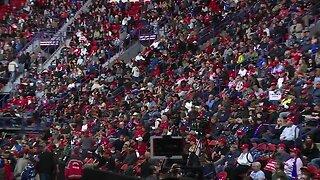 Rally waits for President Trump