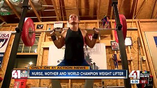 Weightlifting champion mom shares inspirational message for other women