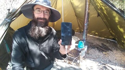 Charge USB with a Camp Stove