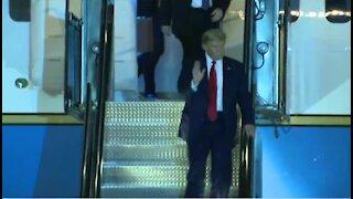 Trump lands at McCarran Airport in Las Vegas