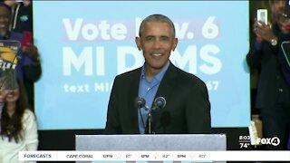 Obama joins Biden campaign trail
