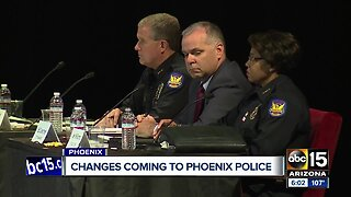 Changes coming to Phoenix police