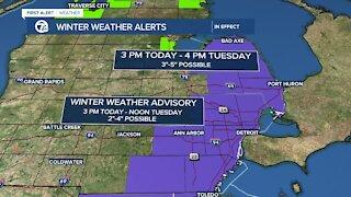 Metro Detroit Forecast: Winter Weather Advisory for metro Detroit