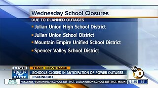 Schools close amid power outage warnings