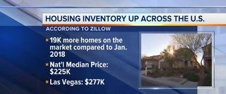 Las Vegas housing inventory opposite national