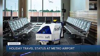 Holiday travel status at Detroit Metro Airport