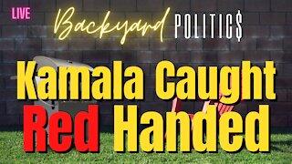 Kamala Harris caught red handed!