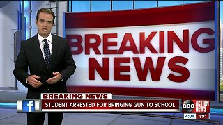 Pinellas County high school student arrested with loaded handgun on campus