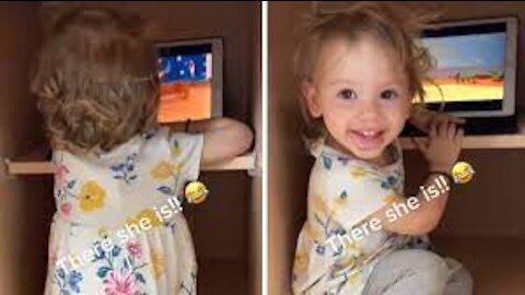 - Toddler Hides in kitchen Cabinet to Watch Movie ...