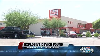 TPD find possible explosive device during traffic stop near southside