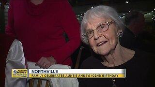 Northville family celebrates woman's 102nd birthday