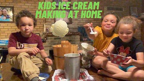 Kids Ice cream making at home