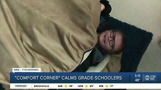 'Comfort Corner' sensory room at Hunter's Green Elementary helps kids with autism, anxiety relax