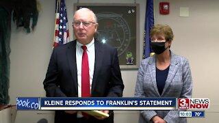 Kleine responds to Franklin's statement