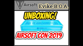 Unboxing Evike Box Of Awesomeness Airsoft Mystery Box Airsoft Con 2019