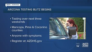 A coronavirus testing blitz begins today