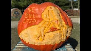 Squashcarver Moon Landing giant pumpkin carving time-lapse