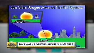 NWS warns drivers about sun glares