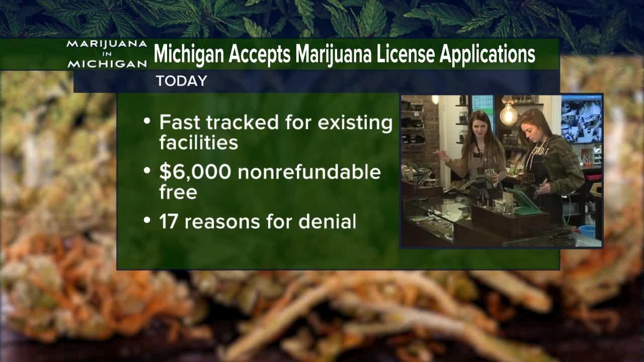 Michigan accepts marijuana license applications