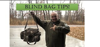 Duck hunting blind bag tips