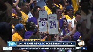 San Diego fans react to Kobe Bryant's death