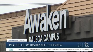 Places of worship not closings?
