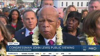 Congressman John Lewis public viewing