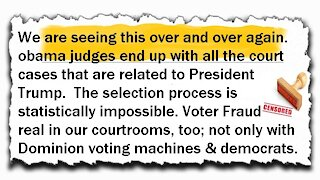 WOKE Court Rooms every time! We know why!