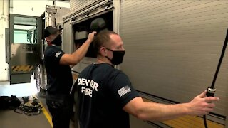 Denver firefighters helping administer COVID-19 vaccine