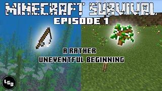 Minecraft Survival Episode 1: A Rather Uneventful Beginning