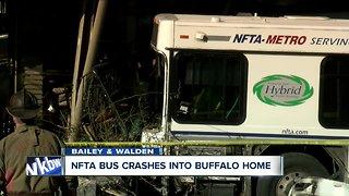 NFTA bus crashes into Buffalo home
