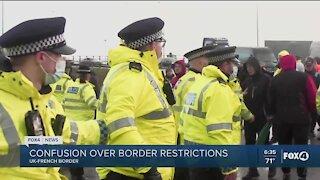 Border restrictions at UK-French border