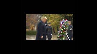 Trump at Arlington Ceremony, Veterans Day 2020
