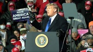 President Trump holds MAGA rally in Omaha