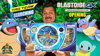 Blastoise GX Premium Collection | Tag Team Searching | Pokemon Cards Opening