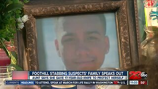 Foothill stabbing update, suspects family speaks out web