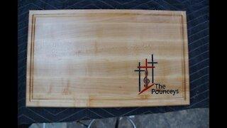 Making cutting board with epoxy inlay