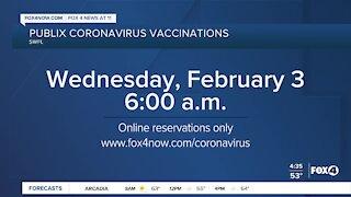 Publix coronavirus vaccination appointments open tomorrow