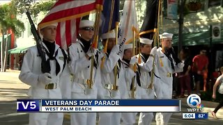 Veterans Day Parade held in downtown West Palm Beach