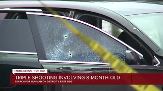 2 women, 8-month-old injured in Detroit shooting