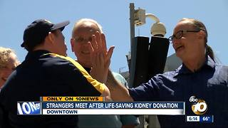 Kidney donor, recipient meet for the first time