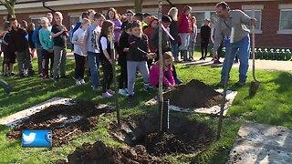 Elementary students celebrate trees