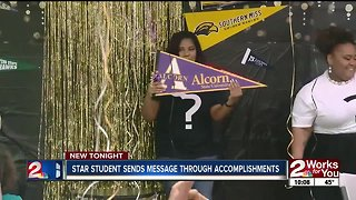 Star student sends message through accomplishments