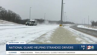 National Guard helping stranded drivers