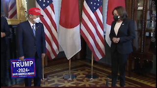 Japanese Prime Minister met today with Kamala Harris 🔥Unbelievable🥳