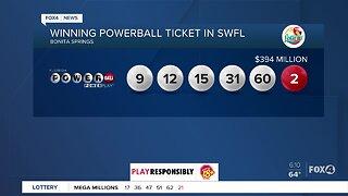 Winning Powerball ticket sold in Southwest Florida